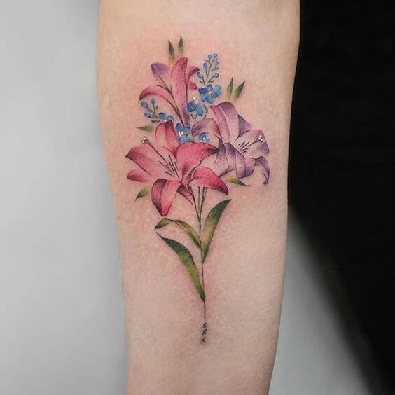 jasmine floral tattoo design on arm