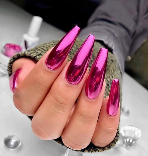 new attractive metallic nail designs 2020