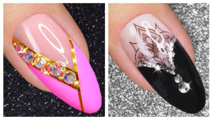 new two color nail art designs 2020