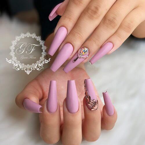 pink matte nail designs 2020