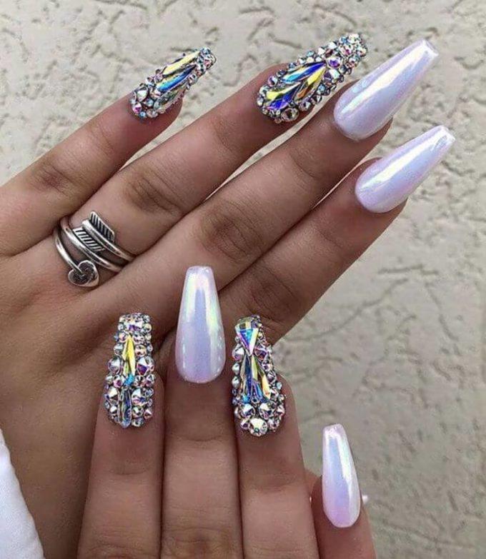 shimmer nail designs 2020