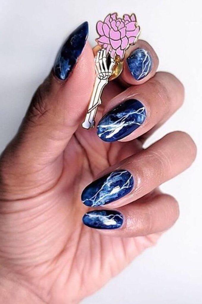 spring summer marble nail designs 2020