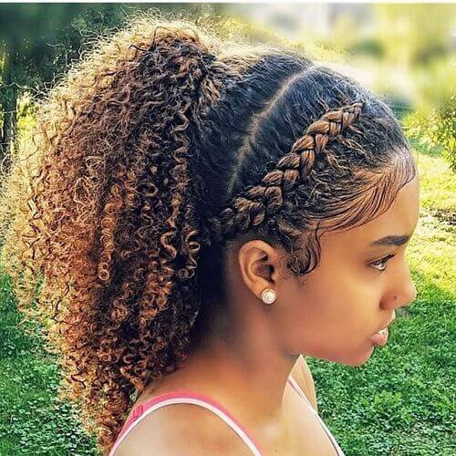 cute natural ponytail hairstyle for long hair