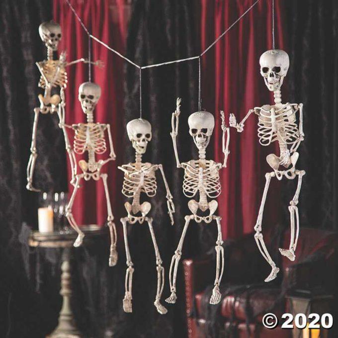 halloween skeleton hanging decoration ideas