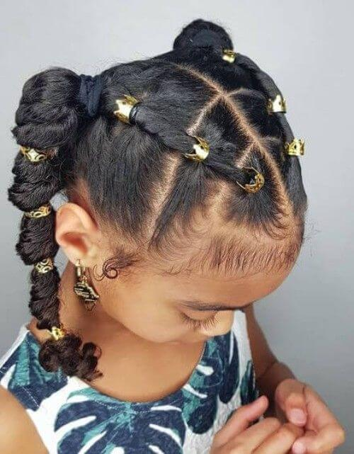 twisted ponytail hairstyle for girls