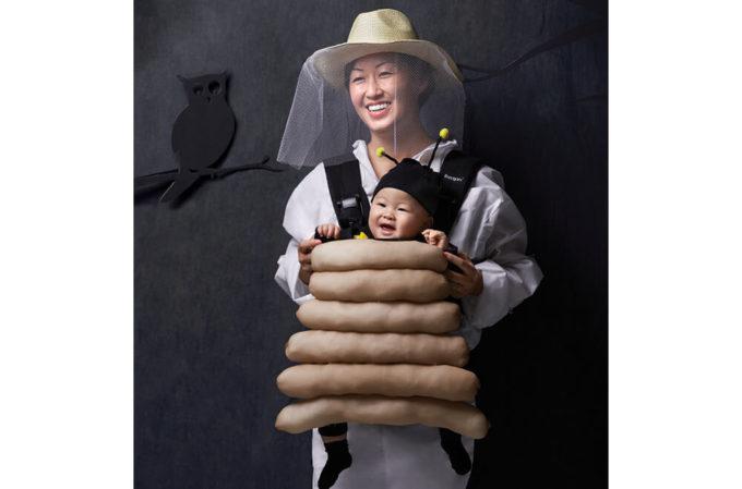 beehive baby carrier halloween costume idea