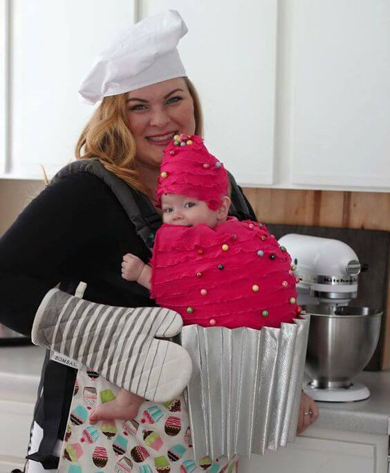 cupcake baby carrier halloween costume idea