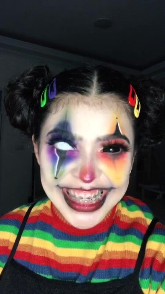 diy creepy clown girl makeup idea