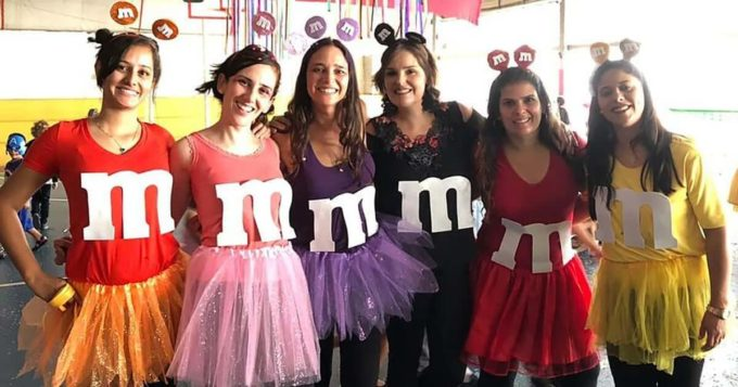 diy homemade m and m girls group of 6 halloween costumes