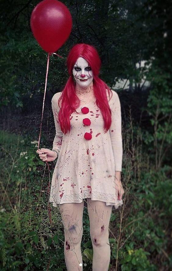 diy creepy pennywise costume idea