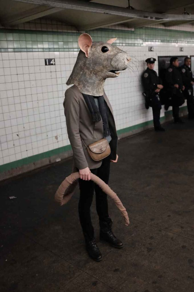 creepy diy rat halloween costume idea