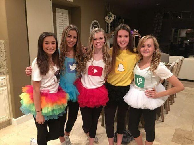 diy social media halloween group costumes ideas for teen girls