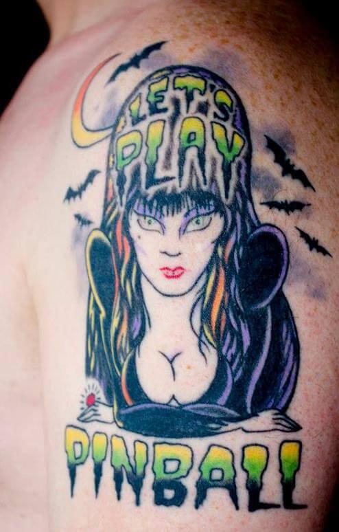 gangster elvira tattoo design