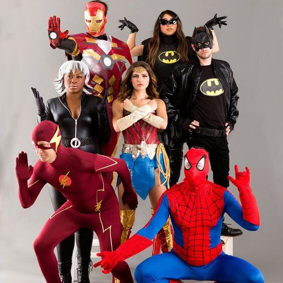 homemade movie superheros group halloween costume ideas for 7