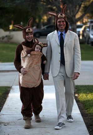 kangaroo baby carrier halloween costume idea