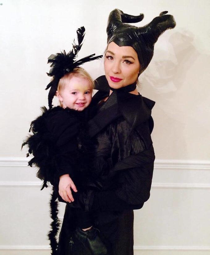 maleficent raven baby carrier halloween costume idea