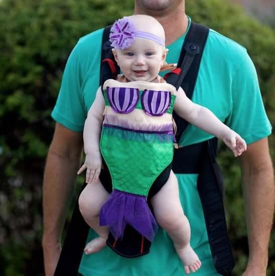 mermaid baby carrier halloween costume idea