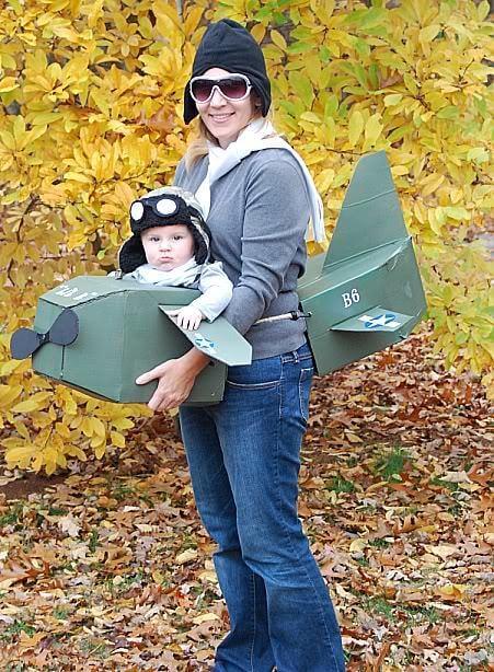 pilot baby carrier halloween costume idea