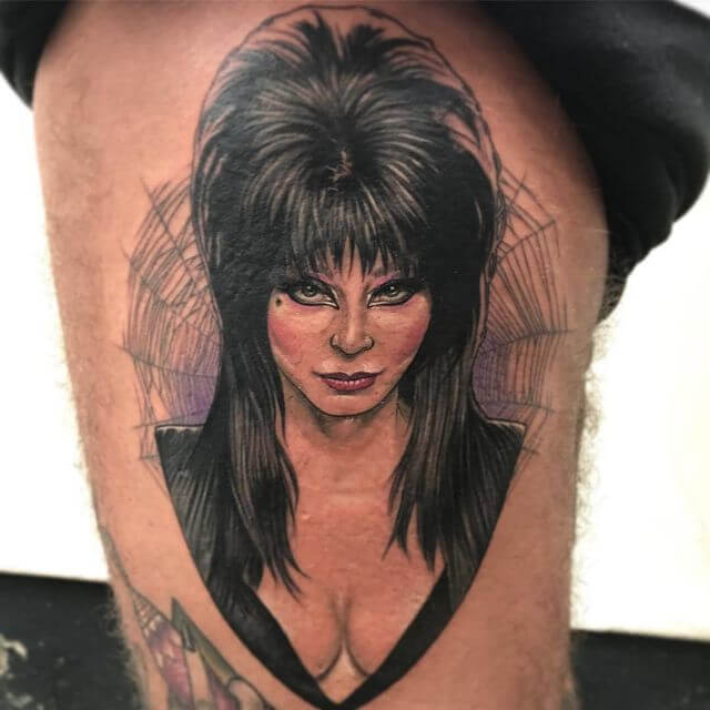 realistic elvira tattoo design