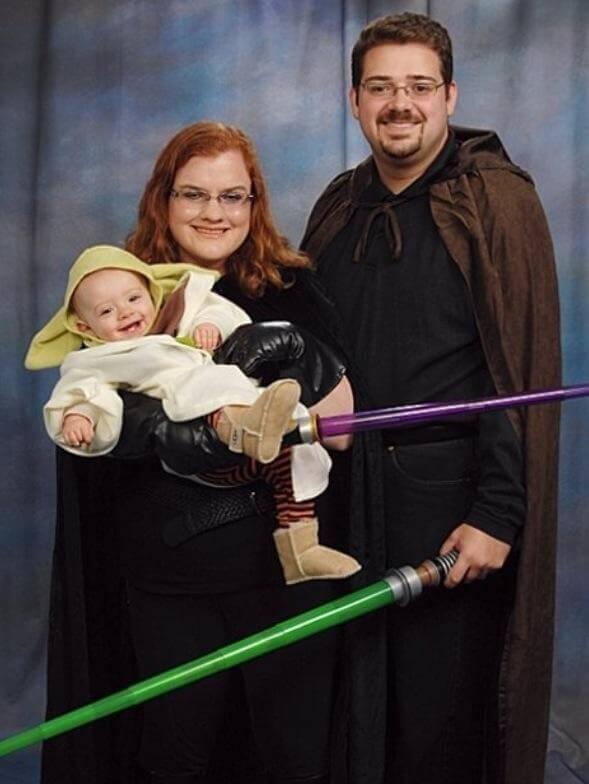 star wars yoda baby carrying halloween costume idea