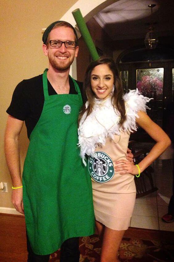 Starbucks couples Halloween costumes