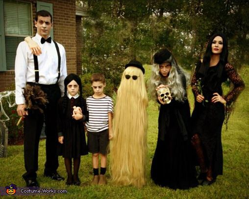 addams family family halloween costumes ideas
