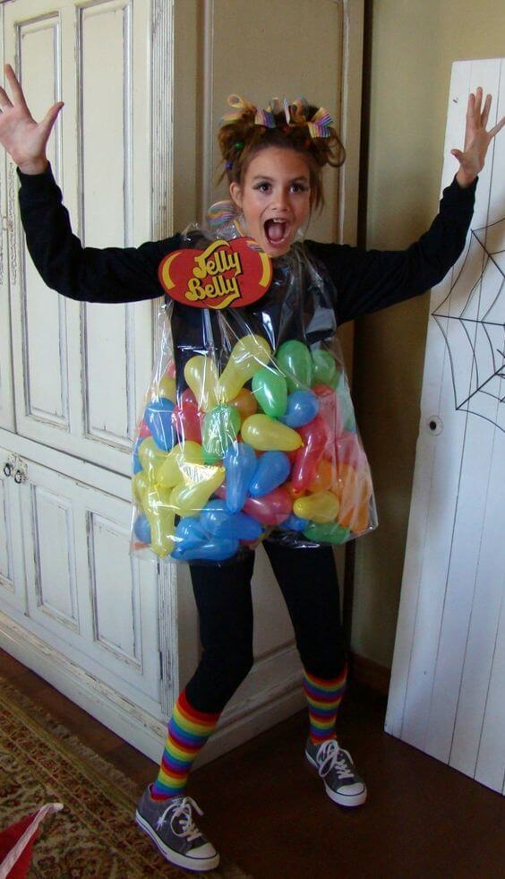 bag of jelly beans costume idea for halloween
