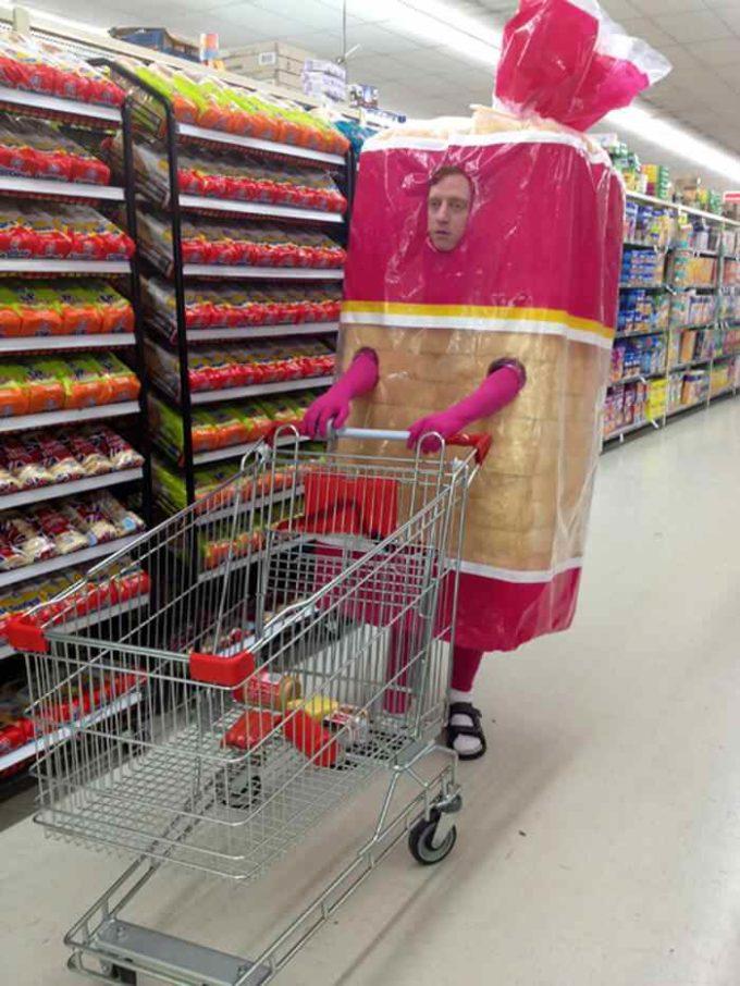 bread pack man funny halloween costume idea