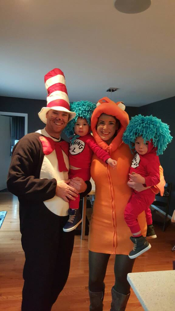 cat in the hat family halloween costumes ideas