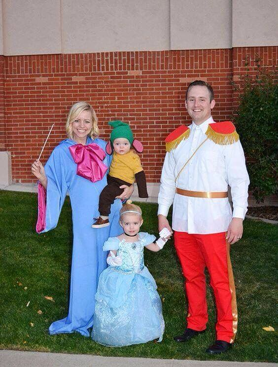 cinderella disney best family halloween costumes ideas