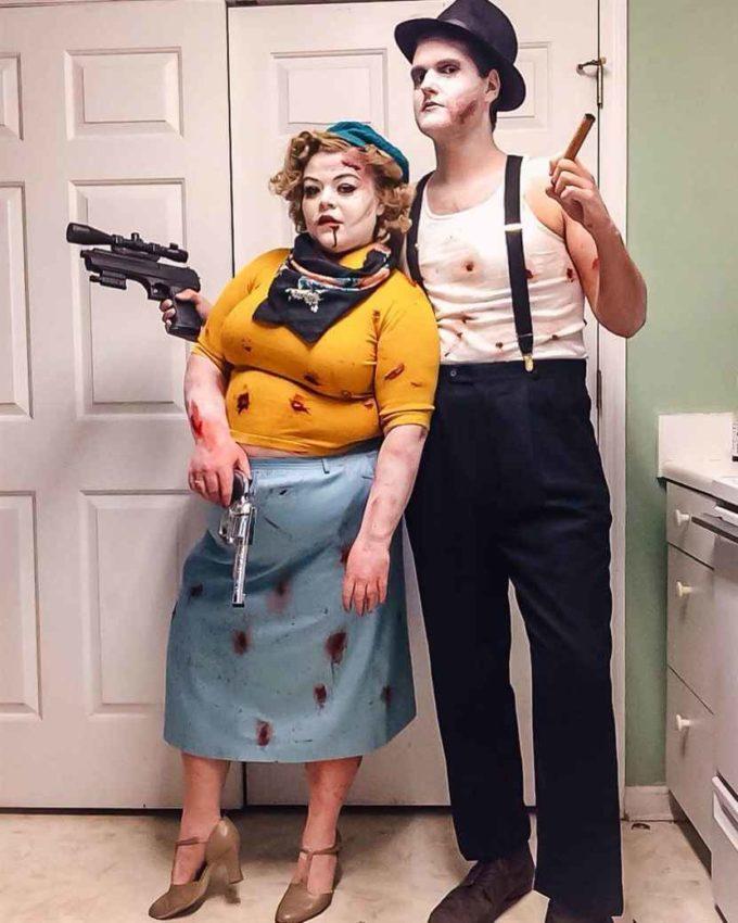 diy bonnie elizabeth parker plus size halloween costume idea