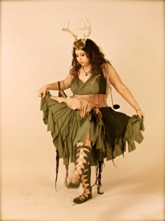homemade goddess plus size halloween costume idea