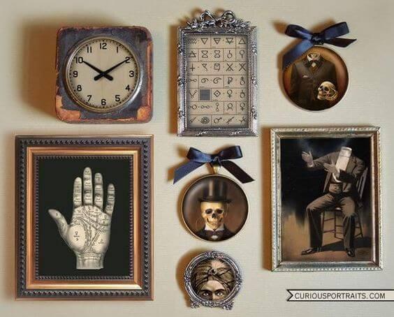 diy haunted mansion wall frame decor ideas