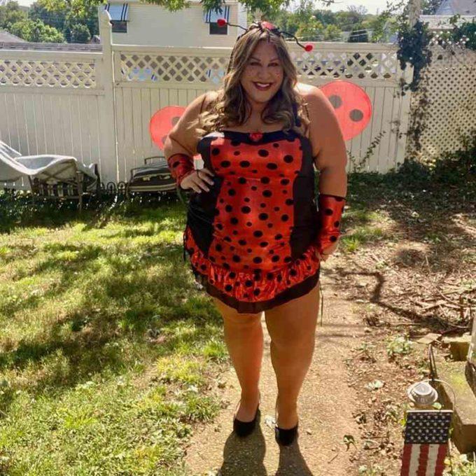 lady bug homemade plus size halloween costume idea