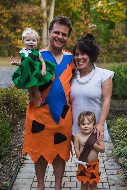 flintstones family halloween costumes ideas