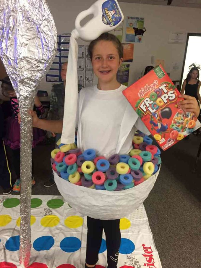 fruit loops cereal bowl with milk bottle halloween costume idea