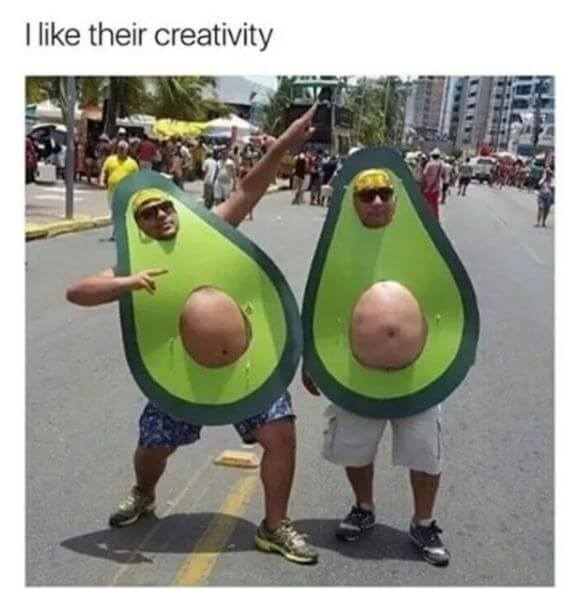 funny avocado halloween costume idea for group of 2