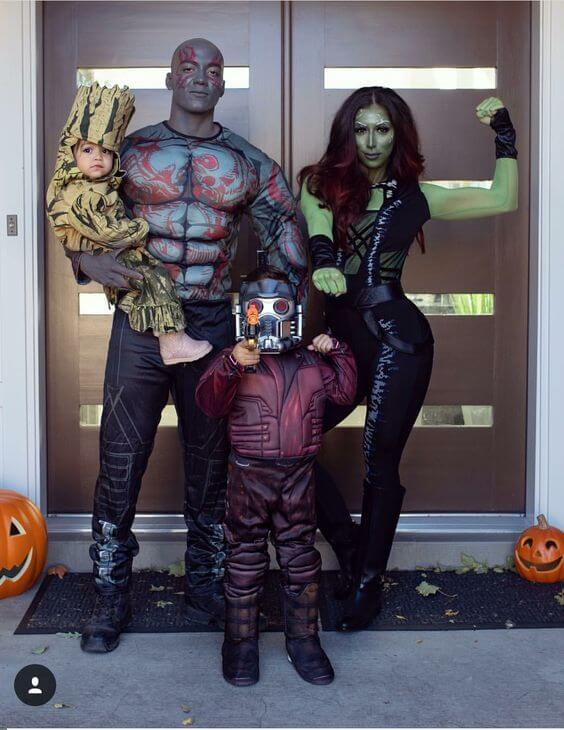 guardians of the galaxy family halloween costumes ideas