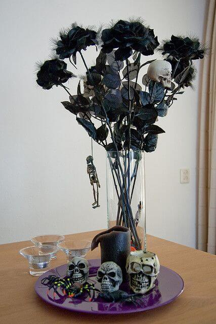 haunted mansion flower decor ideas