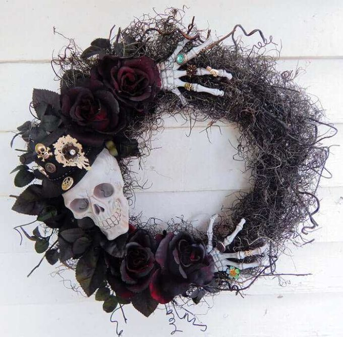haunted mansion wreath decor ideas