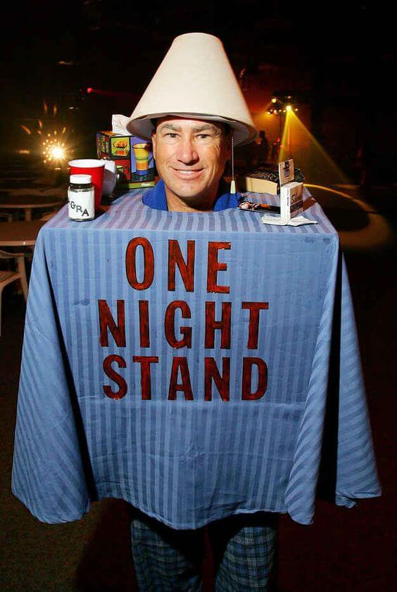 hilarious one night stand halloween costume idea for men