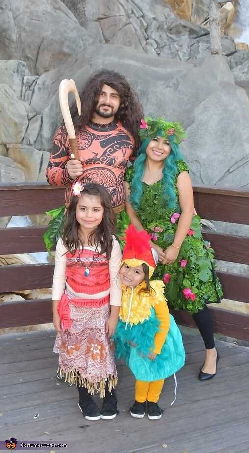 moana theme family halloween costumes ideas