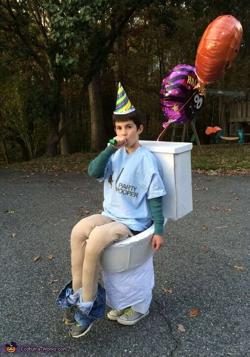 party pooper funny costume idea for halloween