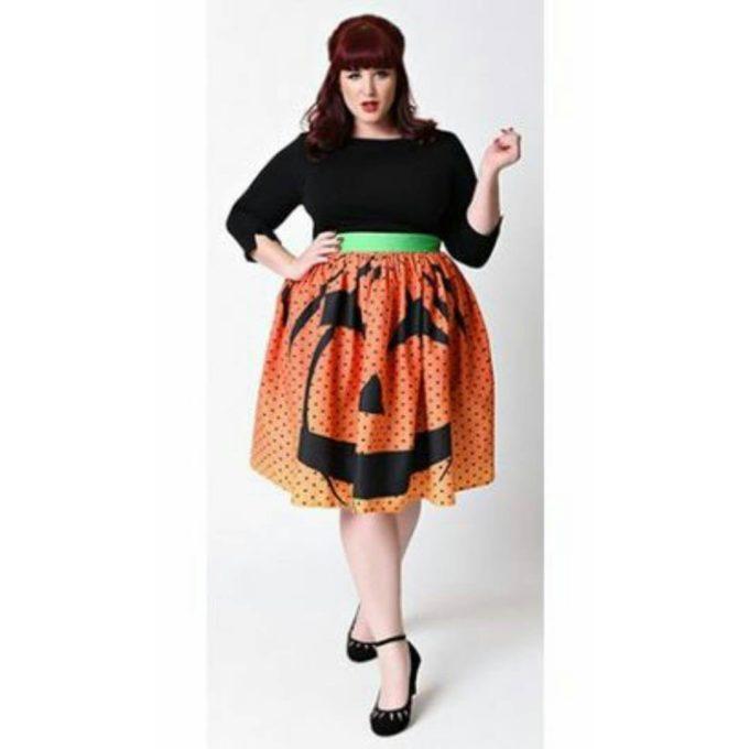 pumpkin halloween skirt diy plus size costume idea