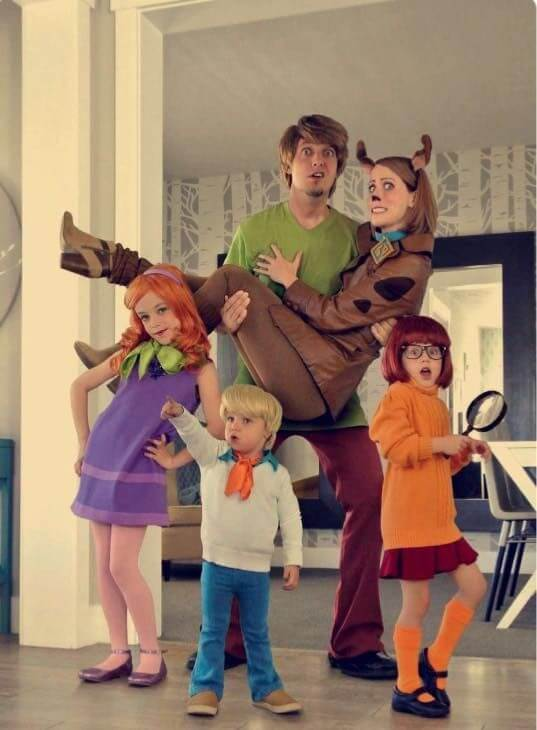 scooby doo family halloween costumes ideas