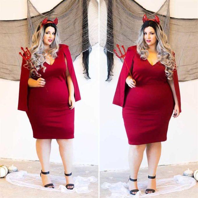 sexy diy devil plus size halloween costume idea