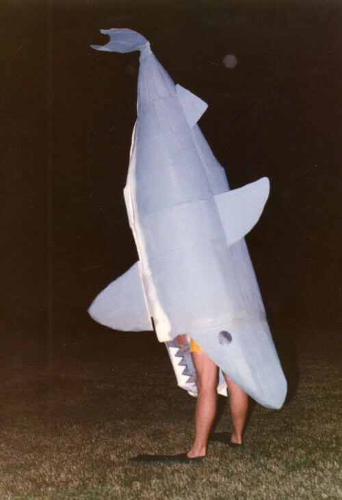 shark eating person costume idea for halloween