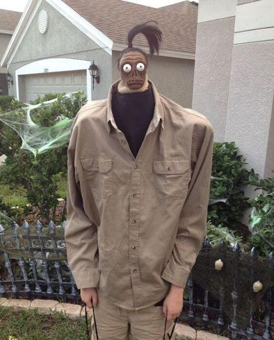shrunken head beetlejuice costume idea for halloween