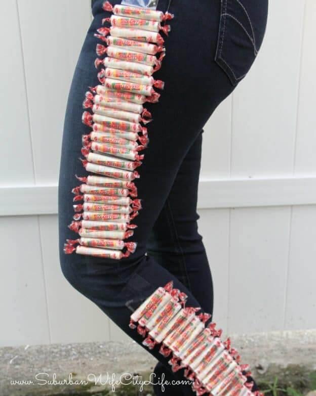smarties pants candy stripes halloween costume idea