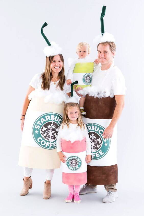 starbucks family halloween costumes ideas